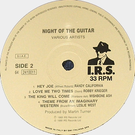[Night of the Guitar ITA LP label of side 2]