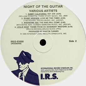 [Night of the Guitar US LP label of side 2]