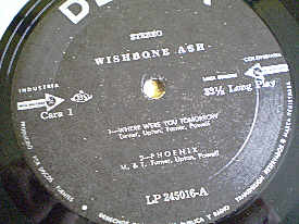 [Wishbone Ash - Colombian compilation cover art, detail]
