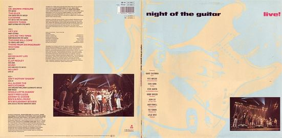 [Night of the Guitar GER LP cover art, front and back]